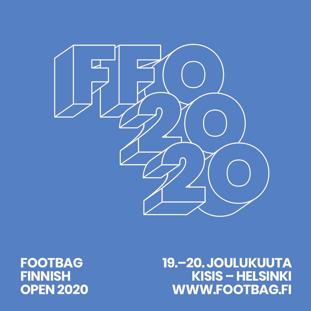 Footbag Finnish Open 2020 Helsingin Kisahallissa 19.-20.12.